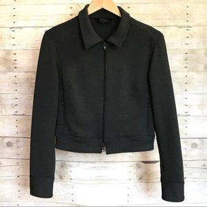 Express Stretch Full Zip Charcoal Gray Jacket 7/8